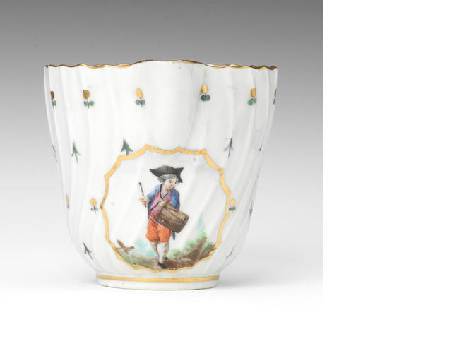 A Caughley creamer, figural panel by Duvivier, from the well known set
