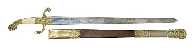A Continental Sword Commemorating Lieutenant-General David-Hendrikus Bruce
