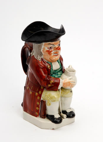 A Staffordshire Ordinary Toby jug  19th Century