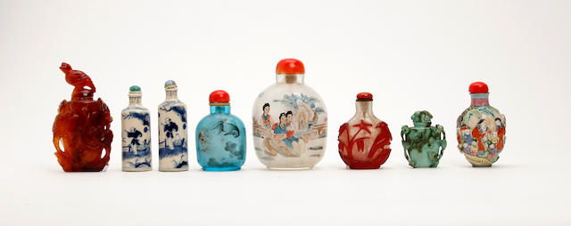 A collection of Chinese snuff bottles