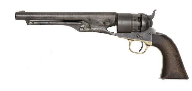 A Colt 1860 Model Army Percussion Revolver