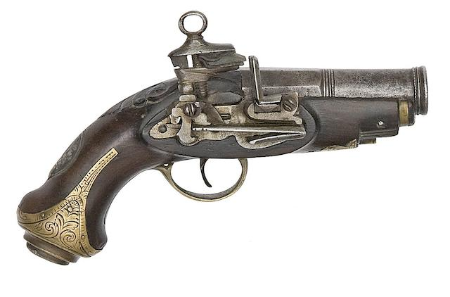 A Small Spanish 20-Bore Miquelet-Lock Pistol