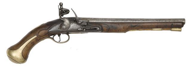 A Rare 25-Bore Flintlock 1756 Pattern Land Service Pistol