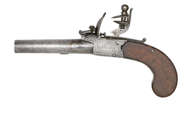 A Pair Of 54-Bore Flintlock Box-Lock Pocket Pistols