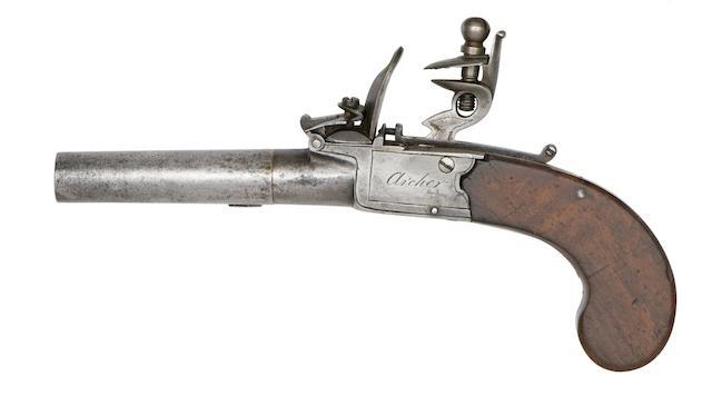 A Pair Of 54-Bore Flintlock Box-Lock Pocket Pistols