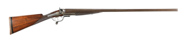 An 8-bore (3¼in) hammer wild-fowling gun by J. & W. Tolley, no. 5625
