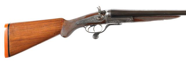 An 8-bore (3¼in) hammer wild-fowling gun by P.D. Malloch, no. 42904