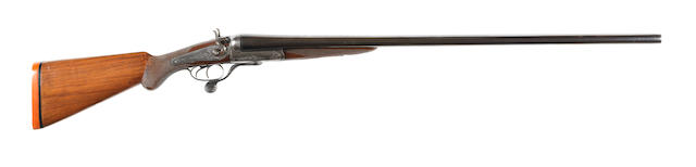An 8-bore (3¼in) hammer wild-fowling gun by P.D. Malloch, no. 42904