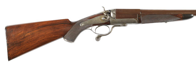 An 8-bore (3¼in) single-barrelled hammer wild-fowling gun by J. & W. Tolley, no. 5782