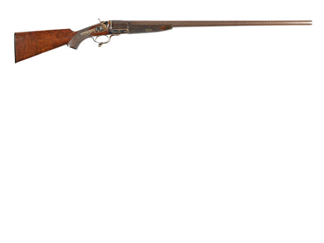 A 4-bore (4in) single-barrelled hammer wild-fowling gun by S.W. Berry, no. 238