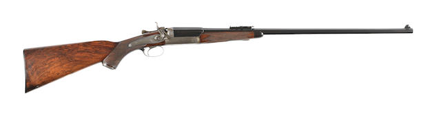 A .303 single-barrelled hammer rifle by Holland & Holland, no. 19566