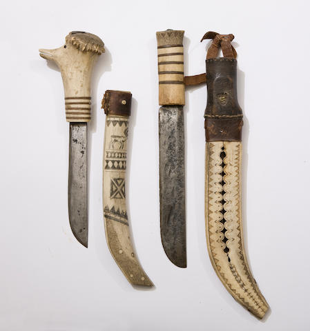 Two Lapplanders Sheath-Knives