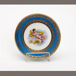 A Sevres style saucer  Late 19th Century/early 20th Century