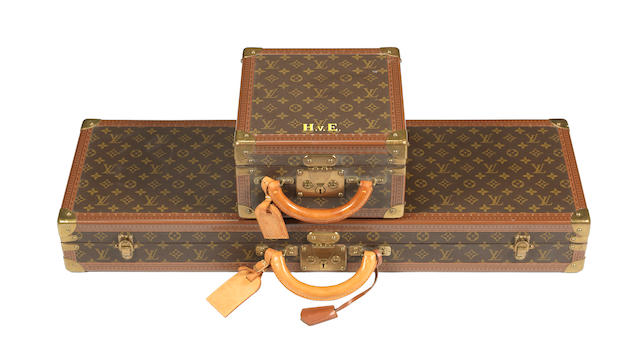 A Louis Vuitton brass-mounted leather single-guncase (2)