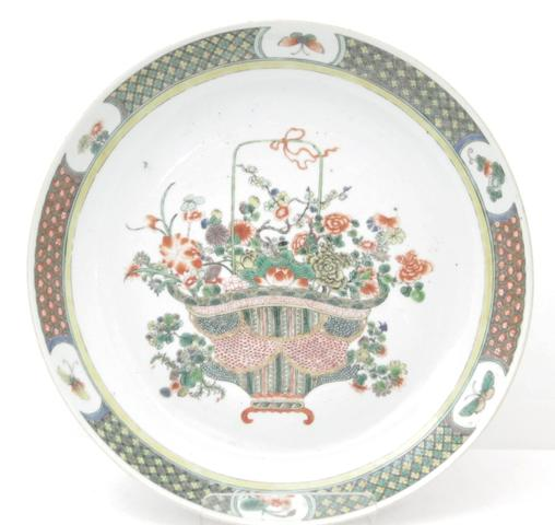 A famille verte charger  Late 18th century