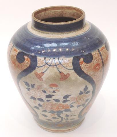 A large Imari vase Edo