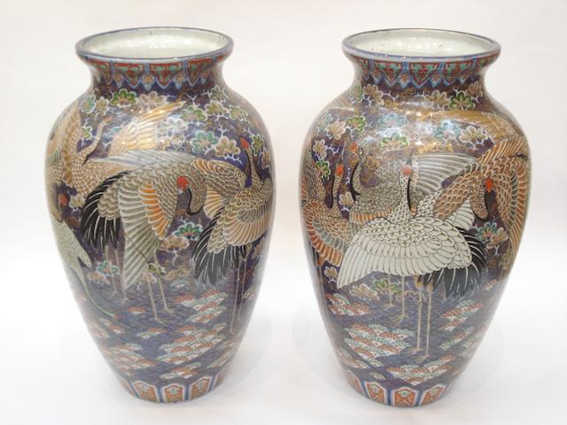 A pair of large Imari vases Circa 1900