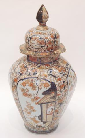 An Imari jar and cover