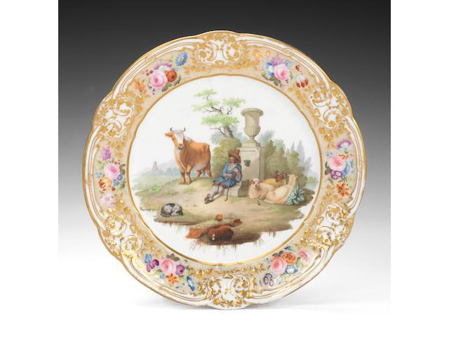 An important Nantgarw plate, circa 1818-20