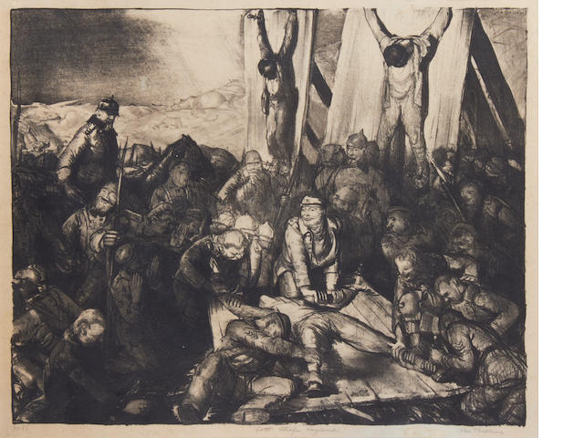 George Bellows (American, 1882-1925) Gott Strafe England Lithograph, 1918, on wove, signed, titled and inscribed 'No 61' in pencil, 390 x 490mm (15 3/8 x 19 1/4in)(I)(unframed)