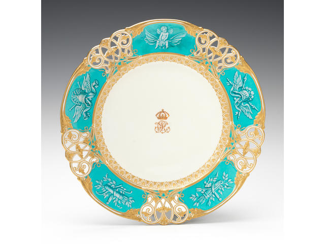 An important Kerr and Binns plate from the Queen Victoria Service by Thomas Bott, dated 1859