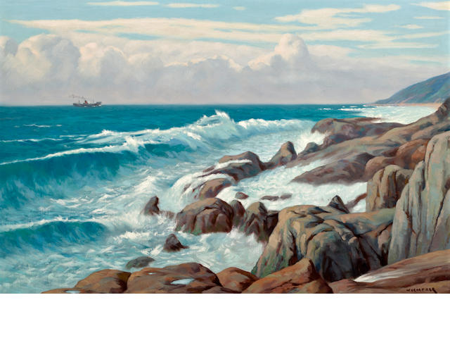Willem Hermanus Coetzer (South African, 1900-1983) Seascape