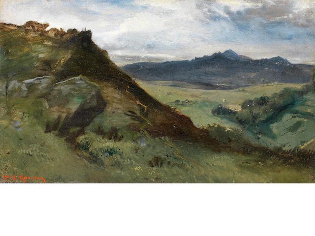 Théodore Rousseau (French, 1812-1867) Vue de montagne, Auvergne