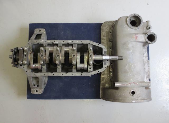 """An original Bentley 4½litre """"Heavy crank"""" case, sump and crankshaft,"""