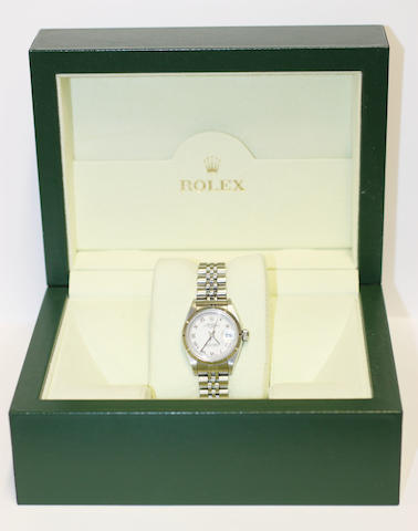 Rolex: A lady's Oyster Perpetual stainless steel wristwatch
