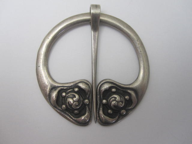 A silver penannular brooch, by Alexander Ritchie of Iona