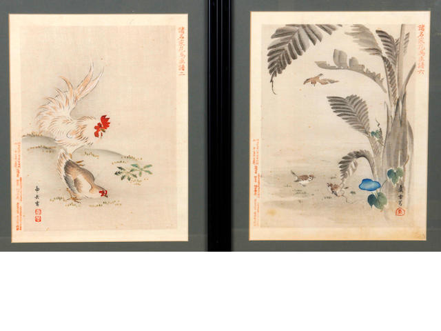 A collection of eleven Japanese woodblock prints  Meiji Period
