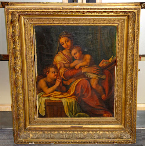 After Raffaello Sanzio, called Raphael Madonna della sedia, oil canvas 77 x 63 cm
