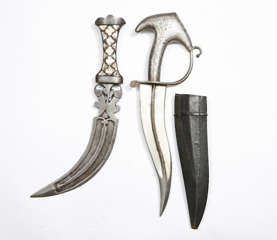 An Indian Dagger Of Khanjarli Form, And An Indian Jambiya
