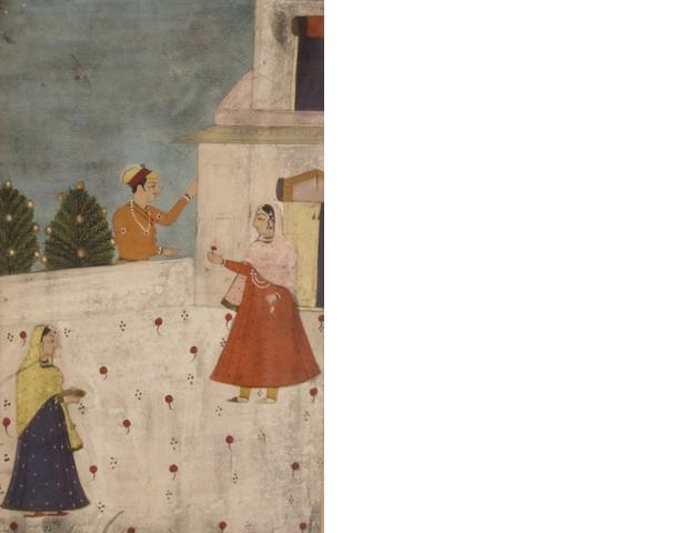 Three Indian watercolours Probably later 19th century