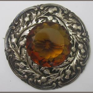 A silver plaid brooch by  Peter Henderson, Glasgow,