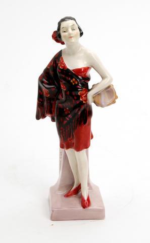 A Doulton Burslem figure, 'Carmen' 1928