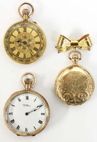 A collection of three fob watches(3)