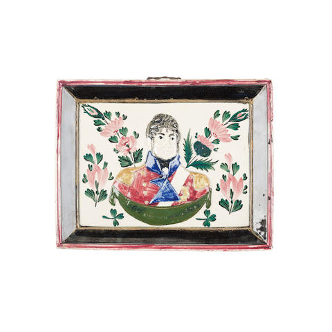 A Portobello pottery plaque of George IV Early 18th century, probably Rathbone,