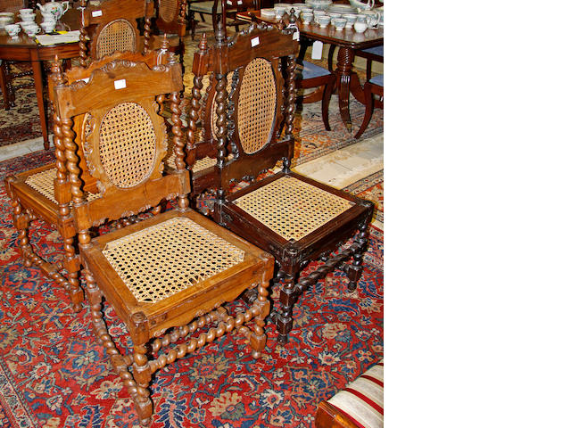 A set of eight Indonesian style chairs