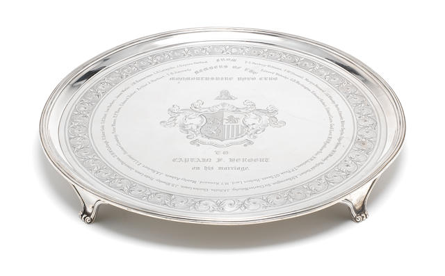 A George III silver presentation salver by Robert & Thomas Makepeace, London 1792