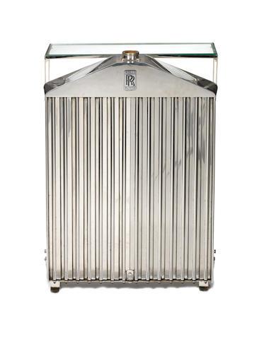 A Rolls-Royce Phantom/20-25Hp radiator side table,