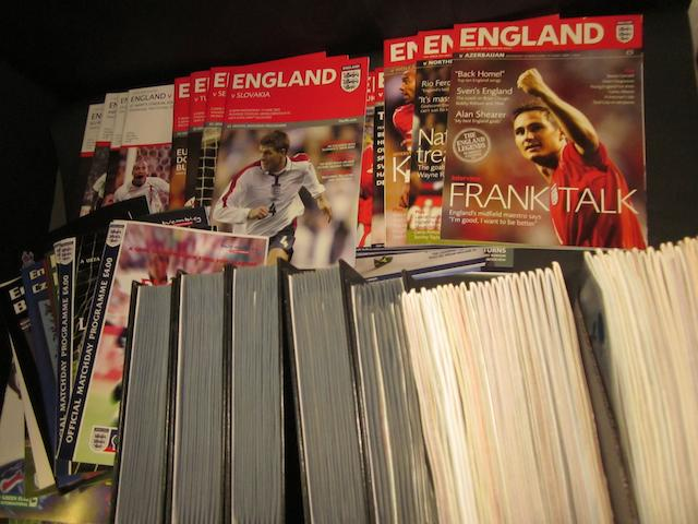 A collection of 1946 to 1997 England international programmes