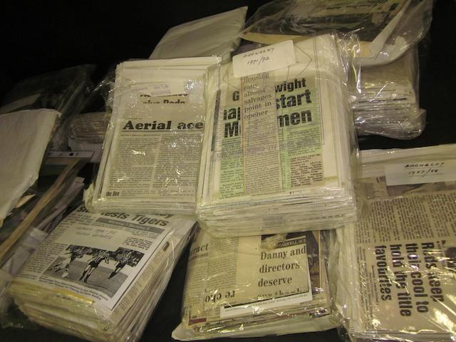 A collection of Barnsley 1980's/1990's newspaper match reports