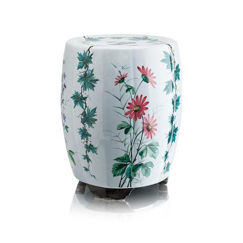 A rare Wemyss pottery Chinese garden seat