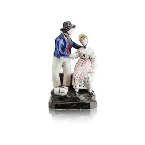 A Portobello figure of the sailors farewell Early 19th century