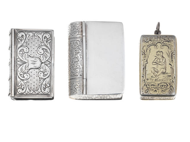 A Victorian silver-gilt novelty vesta case by Rawlings & Summers, London 1854  (3)