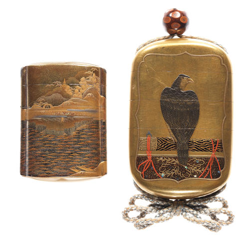 Two gold lacquer inro 18th and 19th century