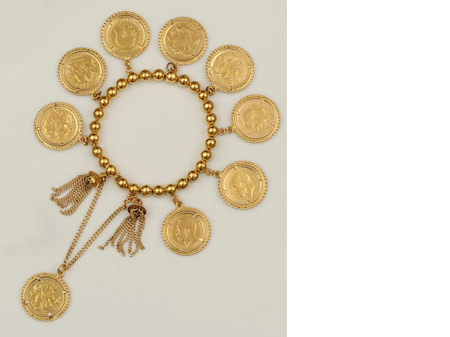 A half sovereign bracelet