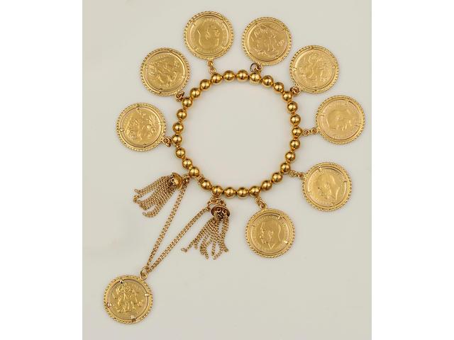 A half sovereign bracelet