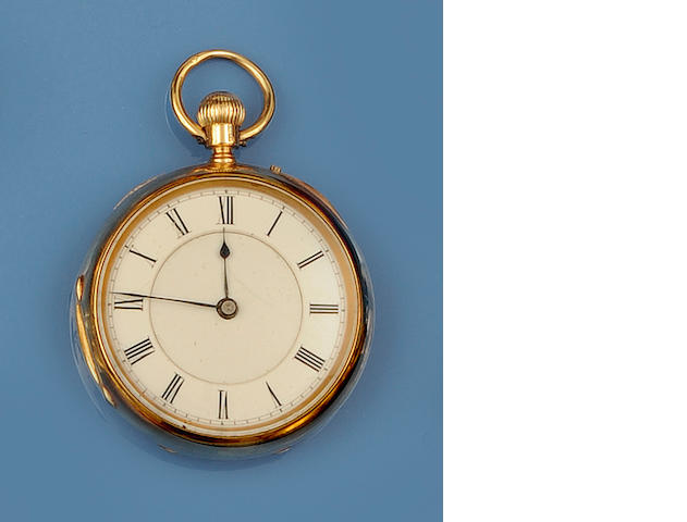 A Victorian 18ct gold open face pocket watch